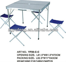 camp Folding Table and Chair Set Outdoor Indoor Promotion, Picnic Floding Table and Chair Set