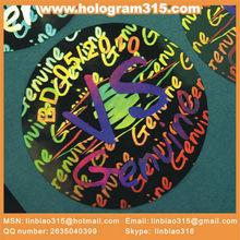 Shiny metallic sticker 3d hologram