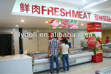 Platform meat display freezer,open top freezer