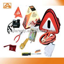 Triangular bag car emergency tool kit with air compressor
