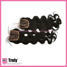"Hot selling Brazilian remy virgin human hair closure, body wave,12""-30"",natural color"
