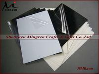 Black and White Double Sides Self adhesive PVC/PET Sheet for Wedding Album,Self Stick Rigid Hard PVC/PET Sheet for Wedding Album