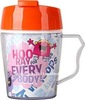Eco-friendly plastic double wall advertising cup with paper insert