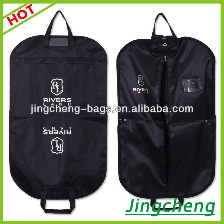 Black Plain Color Travel Bag Cover