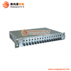 SNMP Managed 10/100/1000M fiber optic media converter 16 port media converter chassis
