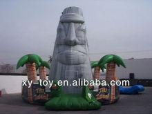 Tiki island inflatable rock wall,inflatable climbing mountain