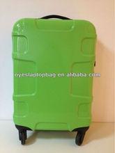 green 20 inch hard shell cabin suitcase