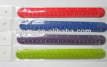 rubber silicone slap bracelet ruler slap