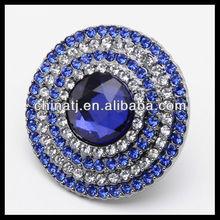 Blue Diamond Engagement Ring Promise Fashion Ring 0.15ct 10k White Gold Ornate New