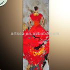 Woman In Red Sex Images Abstract GoldleafCanvas Painting By Hand