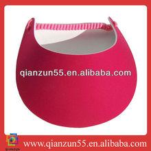 sunproof kids beach children red pom custom wholesale cheap sunvisor hats and caps