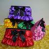New Cute Lady Girl Women satin jewelry Purse Wallet Wallets Bag Case