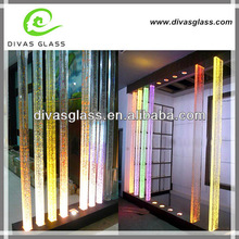 Decorative colorful clear led light glass column