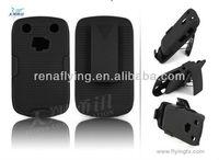 Combo holster case for blackberry 9620 with swivel belt clip