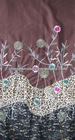 high quality cotton lace with printed fabric patch embroidery designs with flowers applique for fashion garment