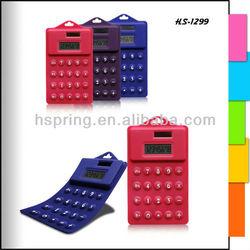 dual power 8 digits silicone calculator