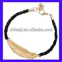 NEW bracelet hot sale fashion one direction gold leaf bracelet