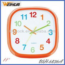 11 inch Square Plastic Wall Clock WH-6836, home decor