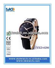 QUARTZ fashion design for business men's leather watch