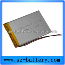 3.7v 2000mah rechargeable li-ion battery for tablet pc