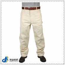 100% blanco de algodón pantalones pintor
