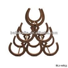iron horseshoe wine rack