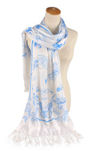 Single color print butterfly women 2013 fashion scarf