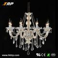 europeu de cristal decoração pendurado vela do candelabro