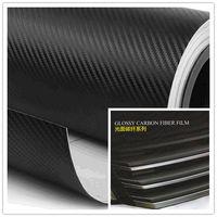 3D carbon fiber purple/Sliver/black/pink vinyl air permeabl sticker air channel carbon fiber