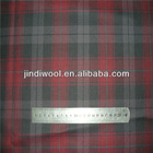 wool poly blend worsted fabric, wool fabric check pattern