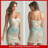 OD-505 Fancy beaded nude short cocktail dress smart cocktail dress for teenagers