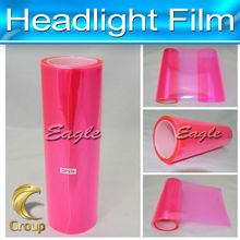 Pink with Frame Auto Smoke Fog Light Car Headi Light Taillight Sticker Vinyl Film Sheet