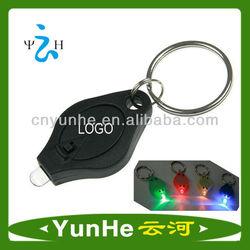 High Quality UV Light LED Keyring with Mini Torch