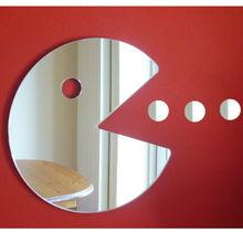 Pac Man Shaped acrylic Mirror