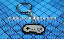 Retro game machine metal keychain
