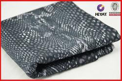 Snake Skin Print Drill Cotton Fabric