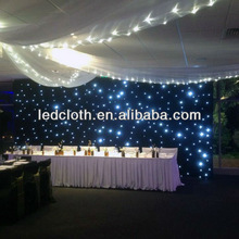 supplier in china guangzhou of led stage curtain for wedding