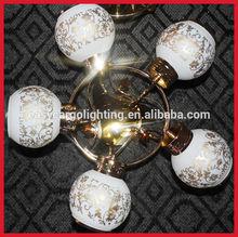 gold finish modern chandelier, design glass ceiling chandelier A335/5