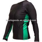 Hot Selling: Men's long sleeve spandex body suit Green/Black