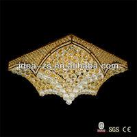 modern Kite shaped led square crystal ceiling light