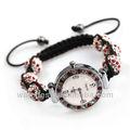 Caliente venta! Alta calidad de moda colorida de la joyería de shamballa shinning con cuentas de cuarzo reloj pulsera accesorios