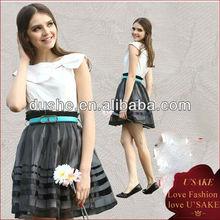 ladies sundress high quality organza elegant dress online