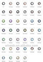 2015 Latest Style Color Contact Lens,Yearly Color Eyewear Contacts