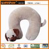 cute and soft dog u shape animal pillow patterns