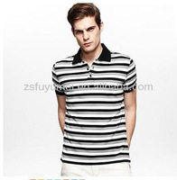 Fashionable Summer hot Sales 100%Cotton Stripes casual slim fit Polo T-shirts for men 2013