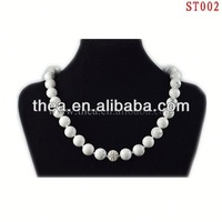 ST002 2013 Charming gemstone new style wholesale spurce stone necklace summer trend