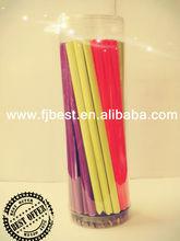 "Hot 7"" Black Wooden Fluorescent Triangular Color Pencil"