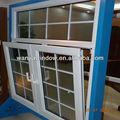 foshan wanjia avanzado diseño de upvc para ventanas rejas