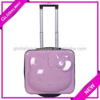 Cat Shape Kids Travel ABS School Bag Trolley