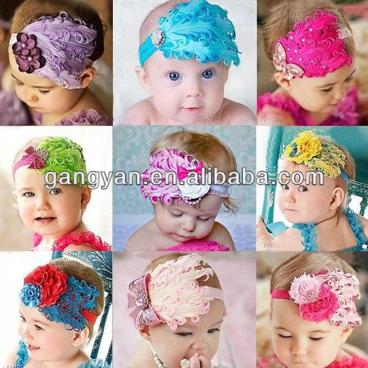 Banditas para cabello para bebés - Imagui